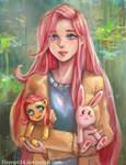 Fluttershy by HEERA-art