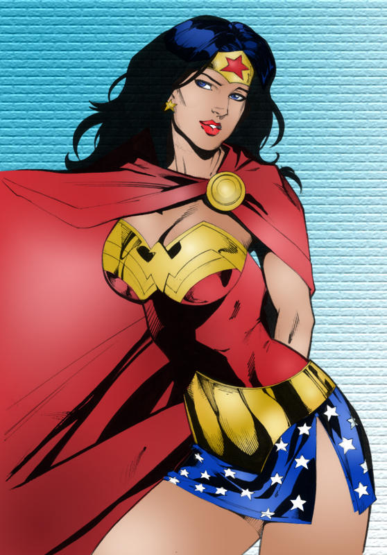 Wonder Woman with Cape by FlamingJeannie