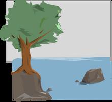 Digital Art- Water landscape test by Scarlet-wish