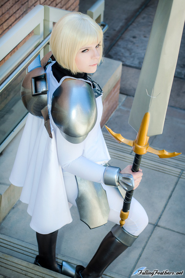 Clare Claymore Armor Cosplay at Anime Matsuri by VariaK