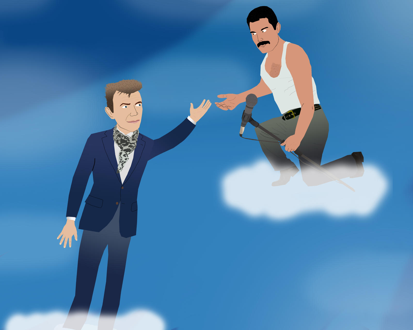 Freddie Mercury welcomes David Bowie by AndrewSS23 on ... Labyrinth 1986 Wallpaper