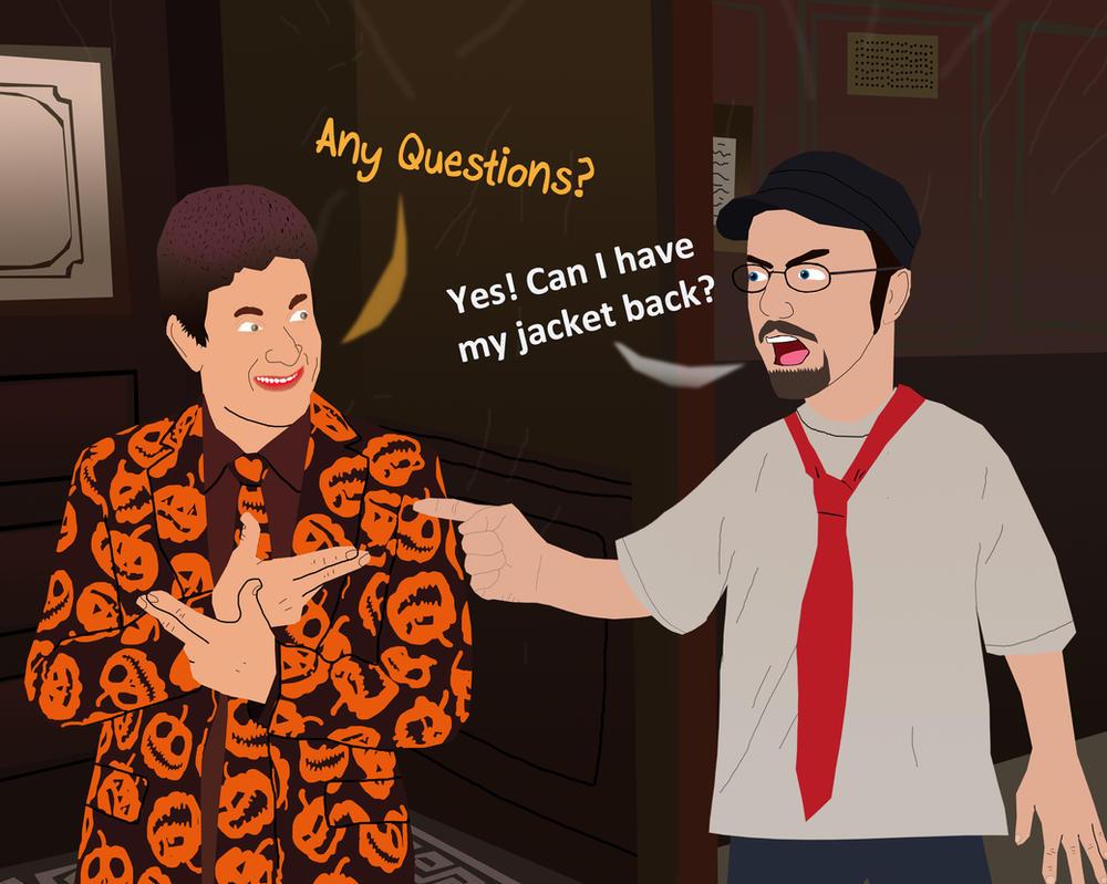Nostalgia Critic vs David S. Pumpkins by AndrewSS23 on DeviantArt