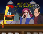 Duckman meets Abis Mal and George Costanza