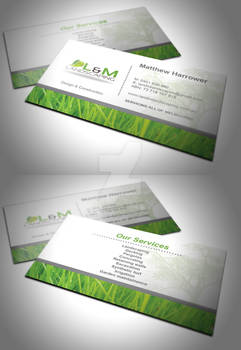 L and M Landscaping Business Card