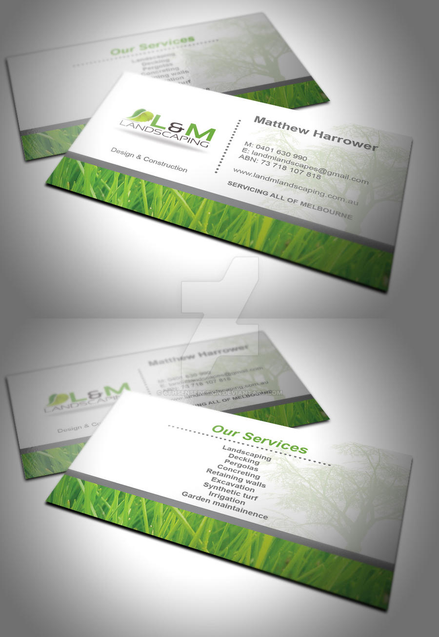 L and m landscaping business card by 6thsensedesign on deviantart l and m landscaping business card by 6thsensedesign flashek