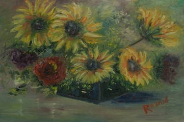 Sunflowers by RayanPaintings