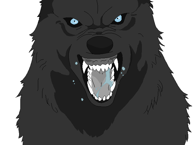 Anime wolf coloring page