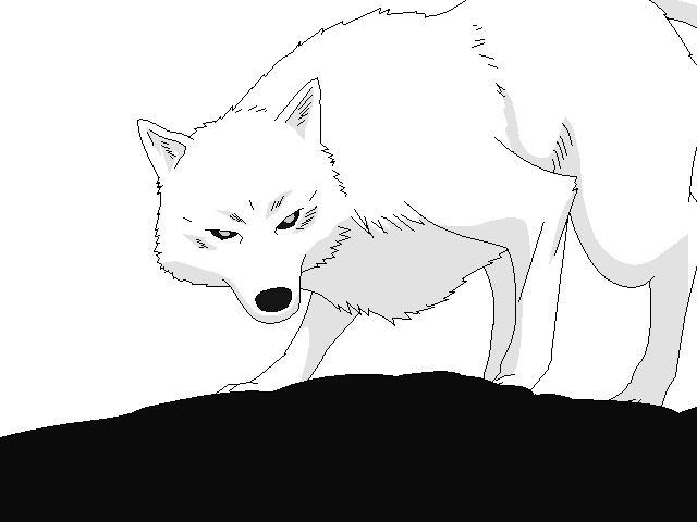 wolf rain coloring pages - photo#20