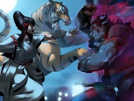 Kazumi vs Akuma (PAR cover) by SANEFOX