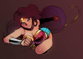 Wonder Woman doodle by SANEFOX