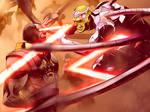 Darkseid Vs Brainiac by SANEFOX