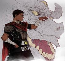 Ordinary Warrior (inspired in Berserk) by SANEFOX