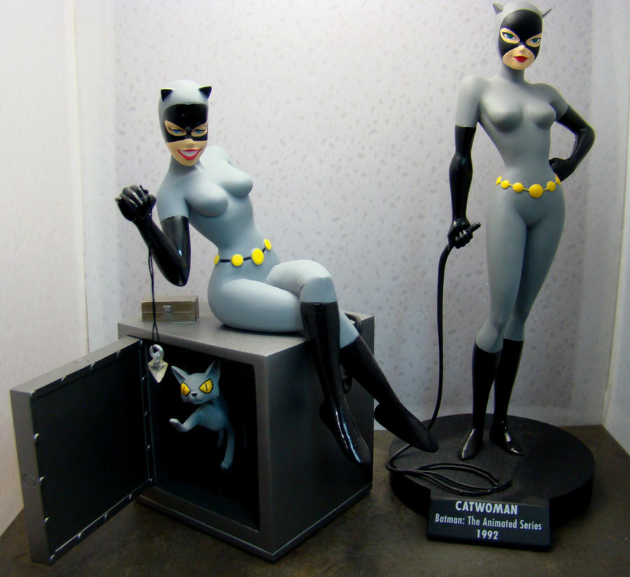 Animated Catwoman Statues by skphile ... & Animated Catwoman Statues by skphile on DeviantArt