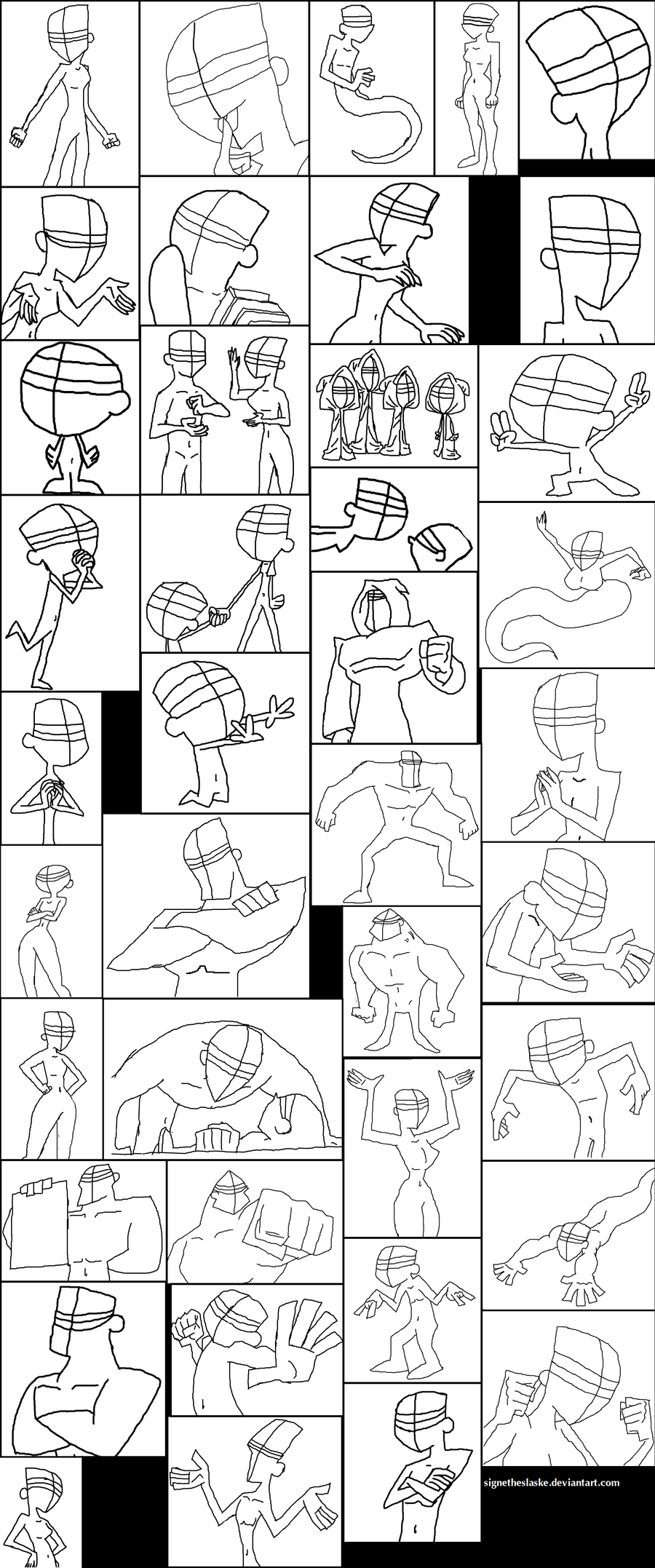 Butch Hartman helping-sketches by SigneTheSlaske