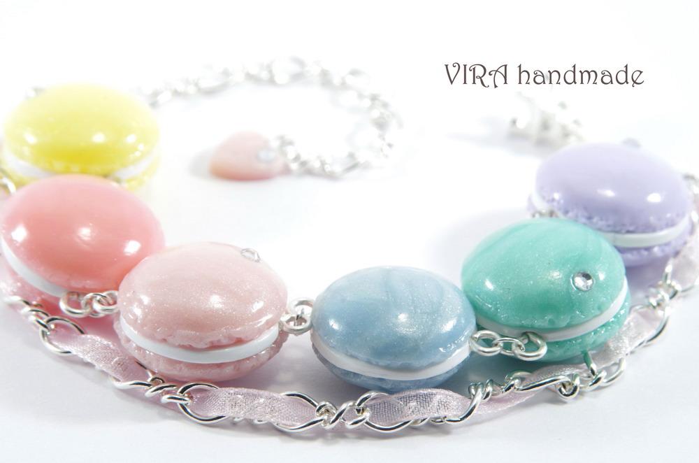 French macaroon charm bracelet by virahandmade