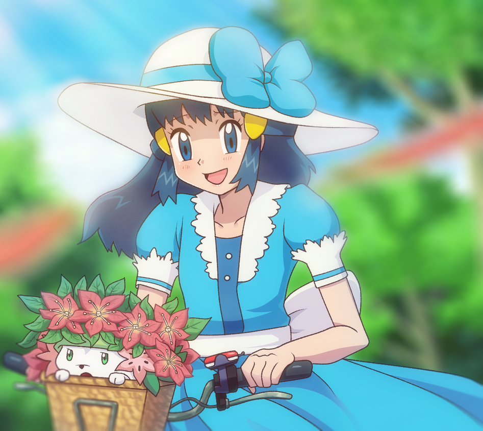 Pokemon Dawn: Hikari In Her Blue Dress By DaDonYordel On DeviantArt