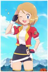 Serena Cosplays: Hinata (Redraw)