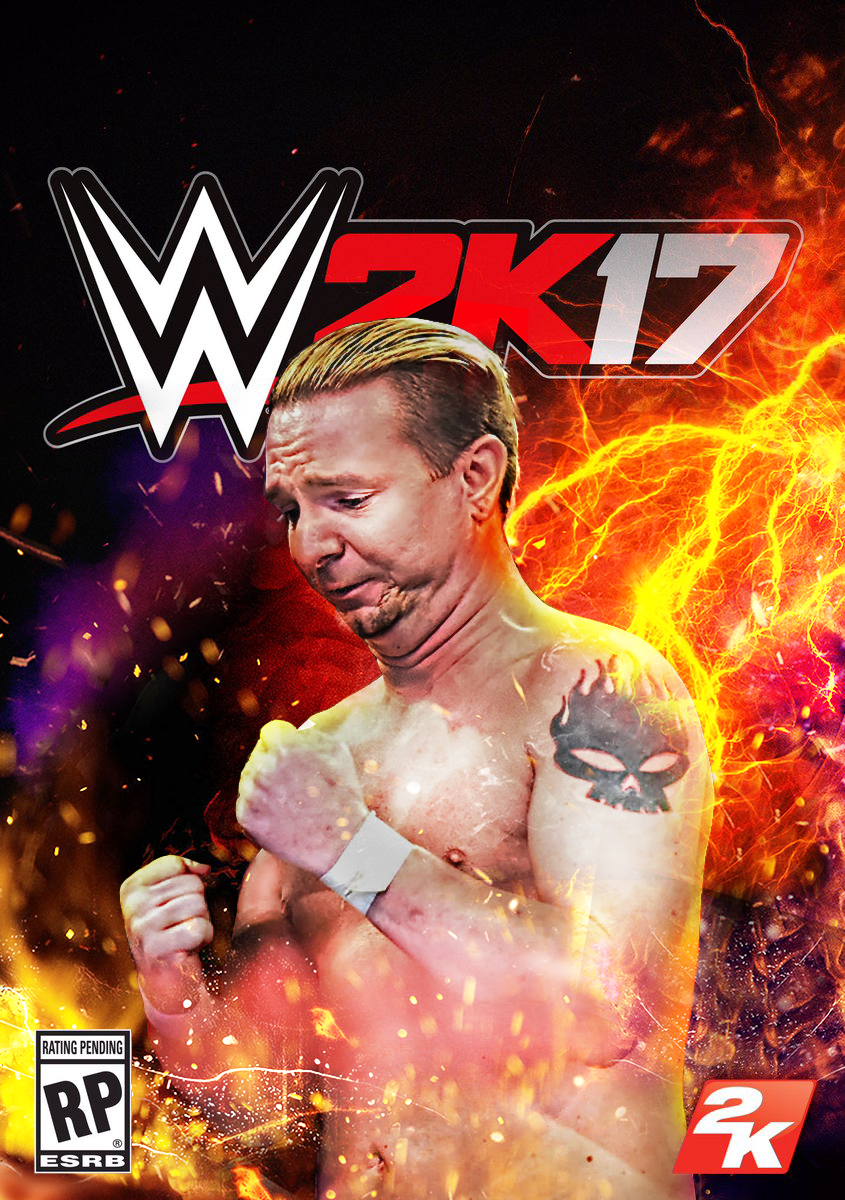 Steve Travor Wwe_2k17_custom_cover_ft__james_ellsworth_by_lastbreathgfx-dachcx3