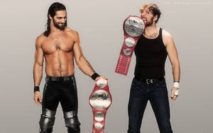 WWE Rollins and Ambrose RAW Tag Team Champions by LastBreathGFX