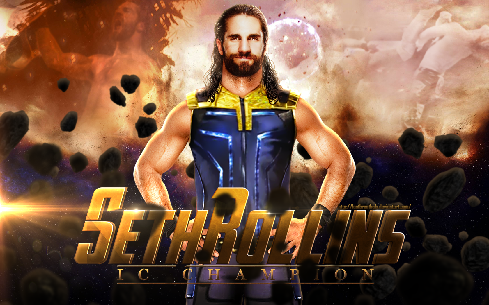 Seth Rollins Hd Wallpaper On Wallpaperget Com