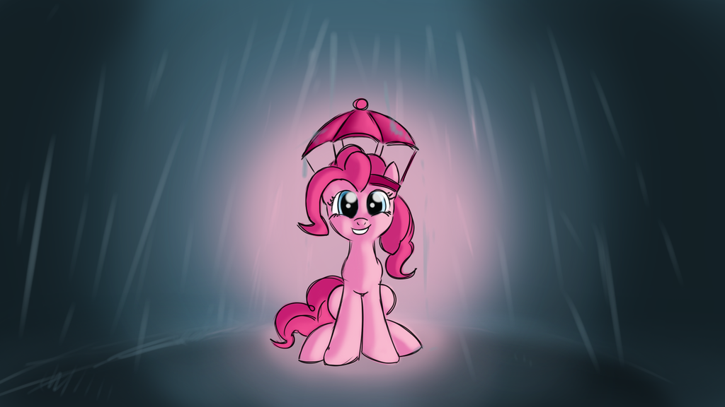 Pinkie in rain by malamol