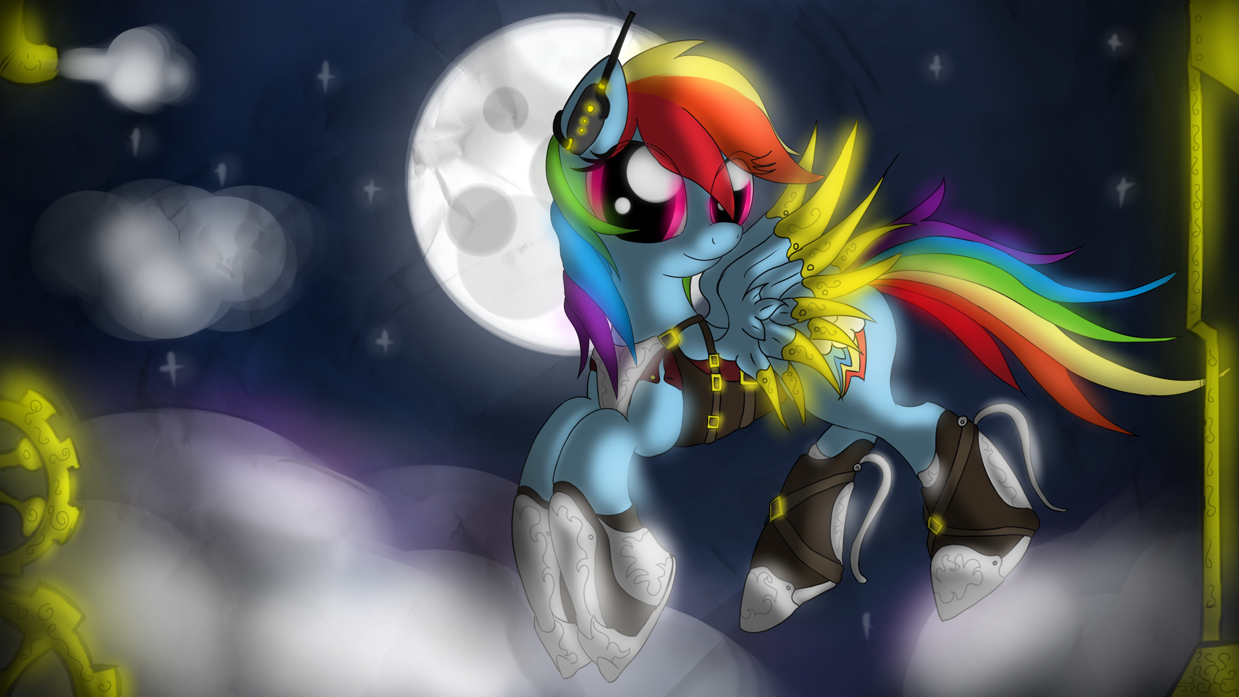 Steampunk Rainbow Wallpaper by malamol