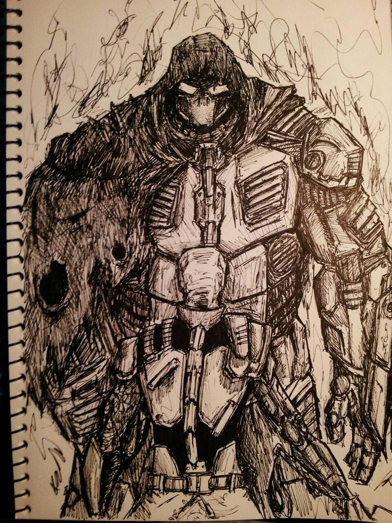 Inktober #17 Battle by xXdrawingguyXx