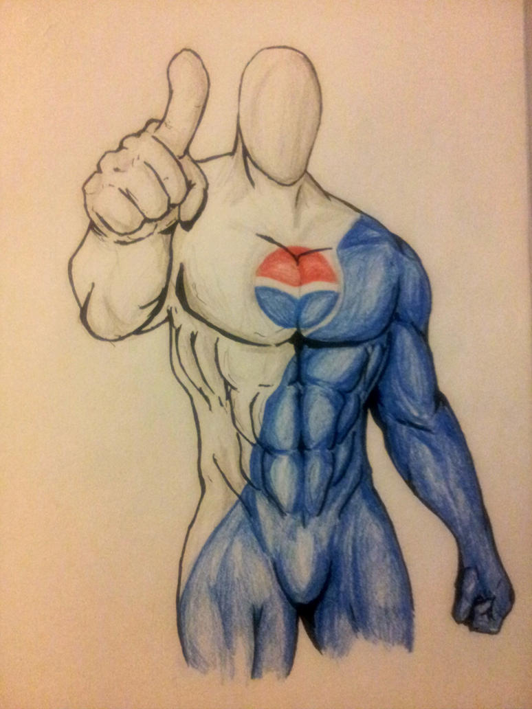 Pepsi Man by xXdrawingguyXx