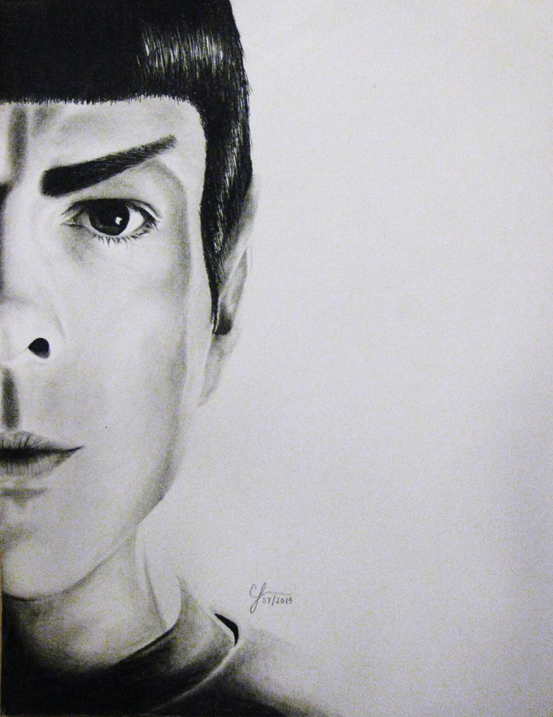 Spock (Zachary Quinto) by chlover25