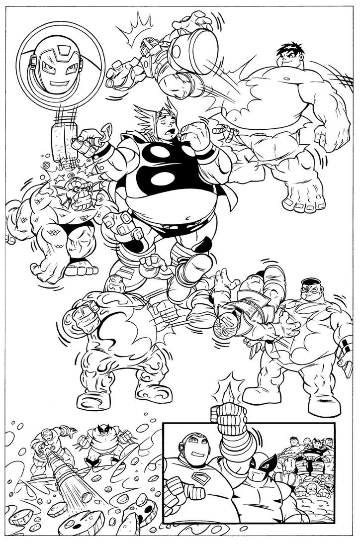 super hero squad coloring pages - super hero squad book 8 page 10 by dariobrizuelaartwork on