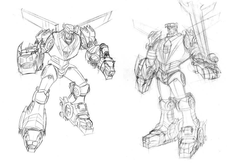 voltron sketches by dariobrizuelaartwork on deviantart