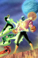 Green Lantern animated issue #2 cover by DarioBrizuelaArtwork