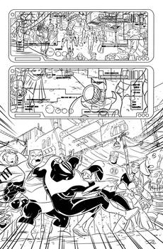 Green Lantern animated book 3 inks page 1