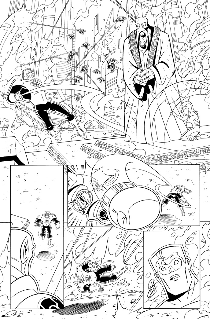 Green Lantern animated book 6 page 6 inks by DarioBrizuelaArtwork