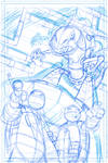 TMNT animated  cover layout.