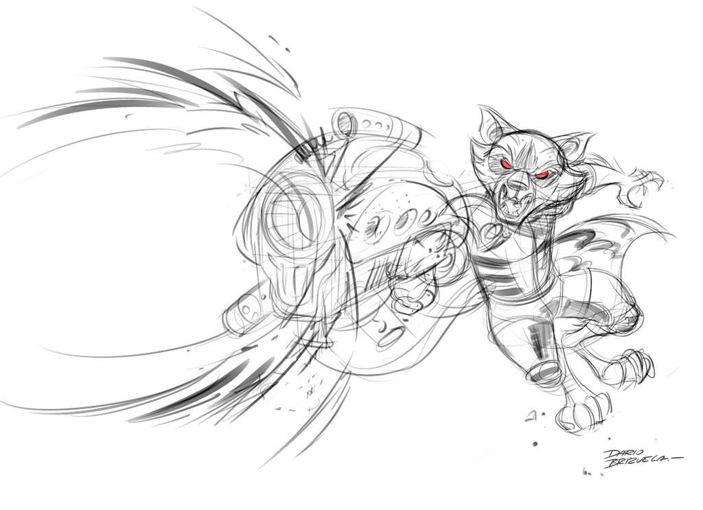 Rocket Raccoon Drawing Easy