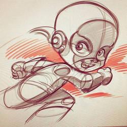 Little Flash sketch. by DarioBrizuelaArtwork