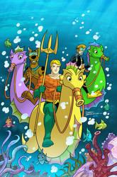 Scooby Doo Team Up # 14 cover art. by DarioBrizuelaArtwork