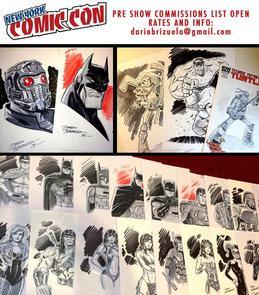 New York Comic Con 2016 commissions open! by DarioBrizuelaArtwork
