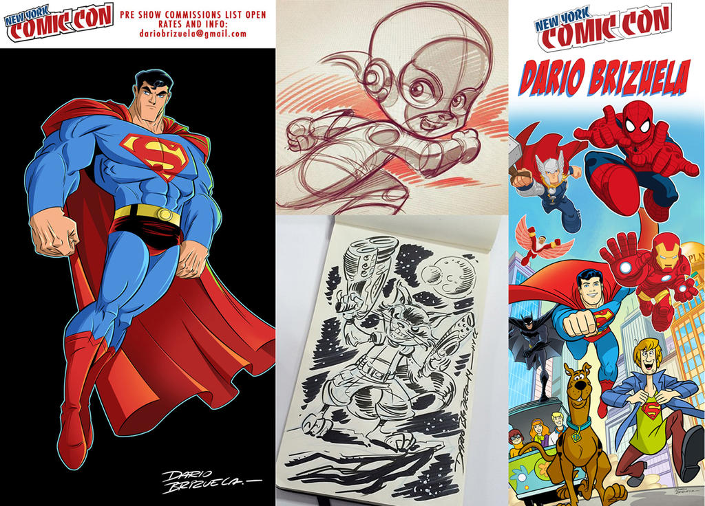 New York Comic Con 2016 commissions. by DarioBrizuelaArtwork