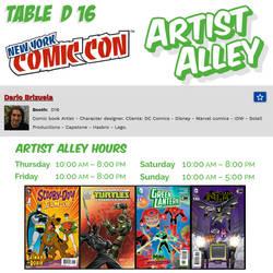 New York Comic Con 2016 Artist Alley info. by DarioBrizuelaArtwork