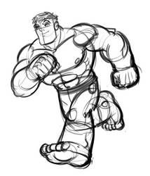 The Hulk!  digital layout. by DarioBrizuelaArtwork