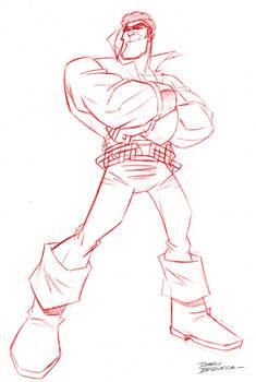 Power Man - pencil sketch