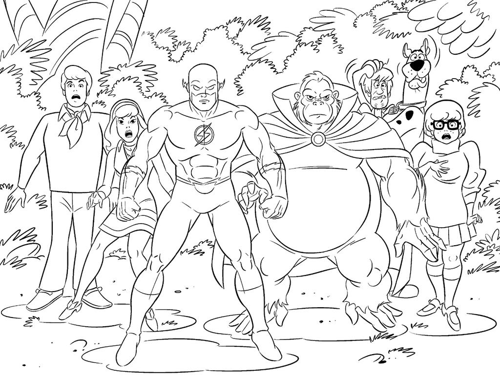 Scooby Doo! and The Flash! by DarioBrizuelaArtwork