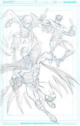 Bat-Family commission pencils