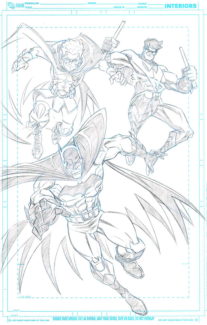 Bat-Family commission pencils by DarioBrizuelaArtwork