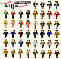 Doctor Who Minecraft Skins - Original Collection