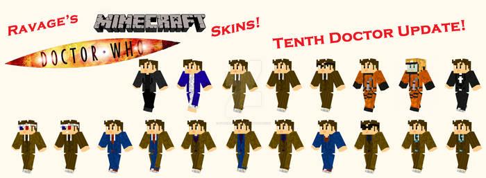 Tenth Doctor Minecraft Skins!