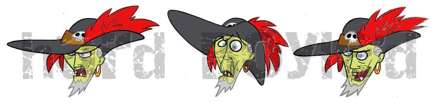 Zombie Pirate Pete by joeboylenyc