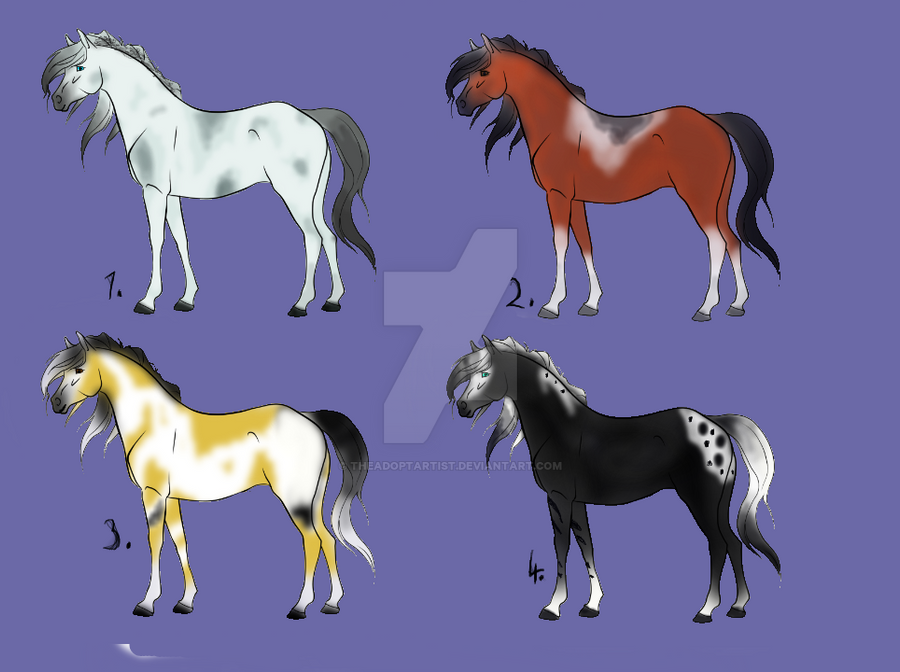 Horse adopts :open: by TheAdoptArtist